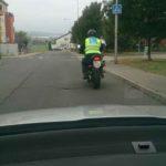 Samostatná jízda na motocyklu Jízda na motocyklu mezi kuželi | Foto: Autoškola Praha VIP