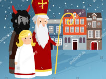 stock-vector-cute-saint-nicholas-with-angel-devil-old-town-houses-and-falling-snow-christmas-invitation-card-748932466
